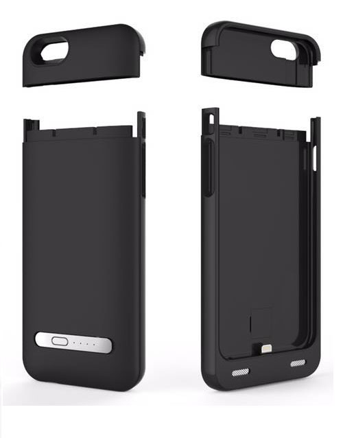 iPhone 6 battery case with card reader black 3200mAh 1