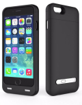 iPhone 6 battery case with card reader black 3200mAh