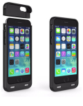 iPhone 6 battery case with card reader black 3200mAh 2