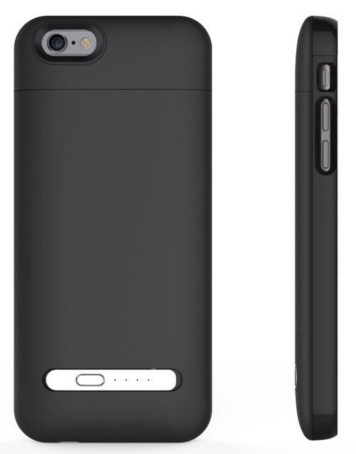 iPhone 6 battery case with card reader black 3200mAh 3