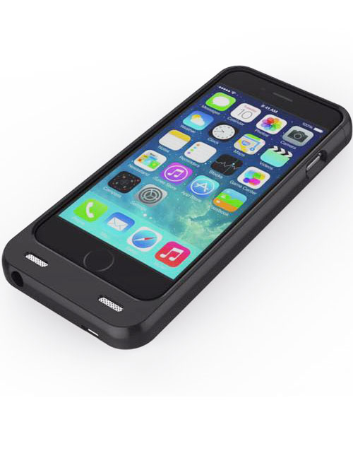 iPhone 6 battery case with card reader black 3200mAh 5