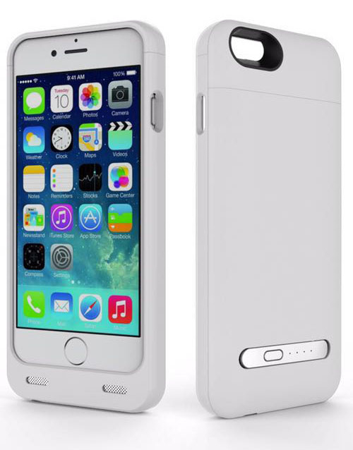 iPhone 6 battery case with card reader white 3200mAh