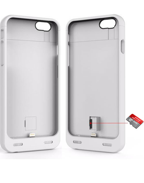 iPhone 6 battery case with card reader
