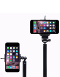 Selfie Stick monopod with portable power bank charger LED flashlight Bluetooth remote shutter china