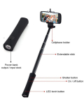 Selfie Stick monopod with portable power bank charger LED flashlight Bluetooth remote shutter china manufacturer
