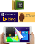 8 inch Intel Z3735F Quad Core DUAL SYSTEM WINDOWS Tablet Android Tablet PC firefly I8000 firefly tablet