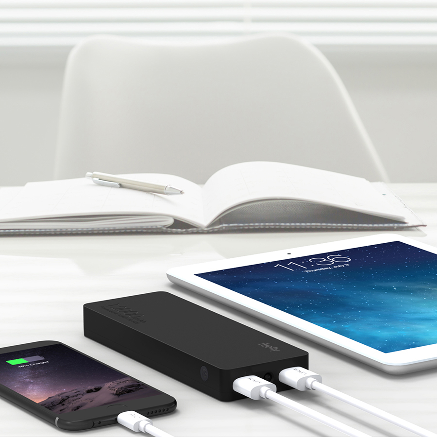12000 mAh Dual-USB External Battery Charger Firefly PE-N28 2