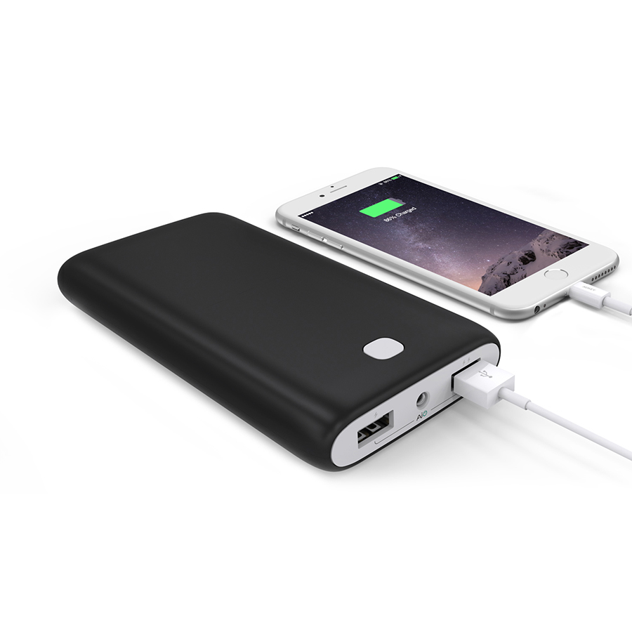 20000 mAh Dual-USB External Battery Charger Firefly PE-N15 Black 3