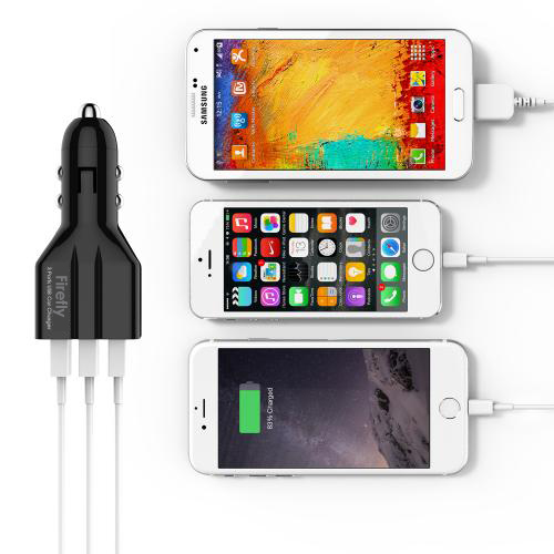 3 USB Ports Car Charger with quick charging Firefly CC-Y10 Black 5
