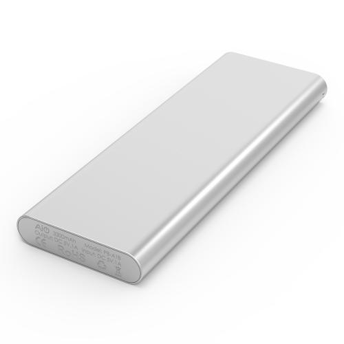 3300 mAh Portable External Battery Charger Power Bank Zinc Alloy Silver Firefly PE-A1B 8