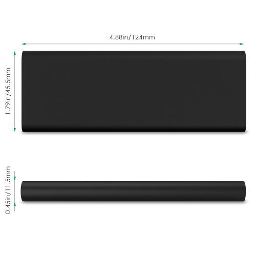3600 mAh Slim Portable External Battery Pack Firefly PE-N26 Black 2