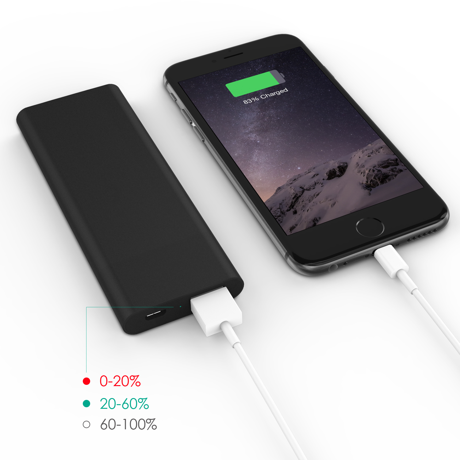 3600 mAh Slim Portable External Battery Pack Firefly PE-N26 Black 8