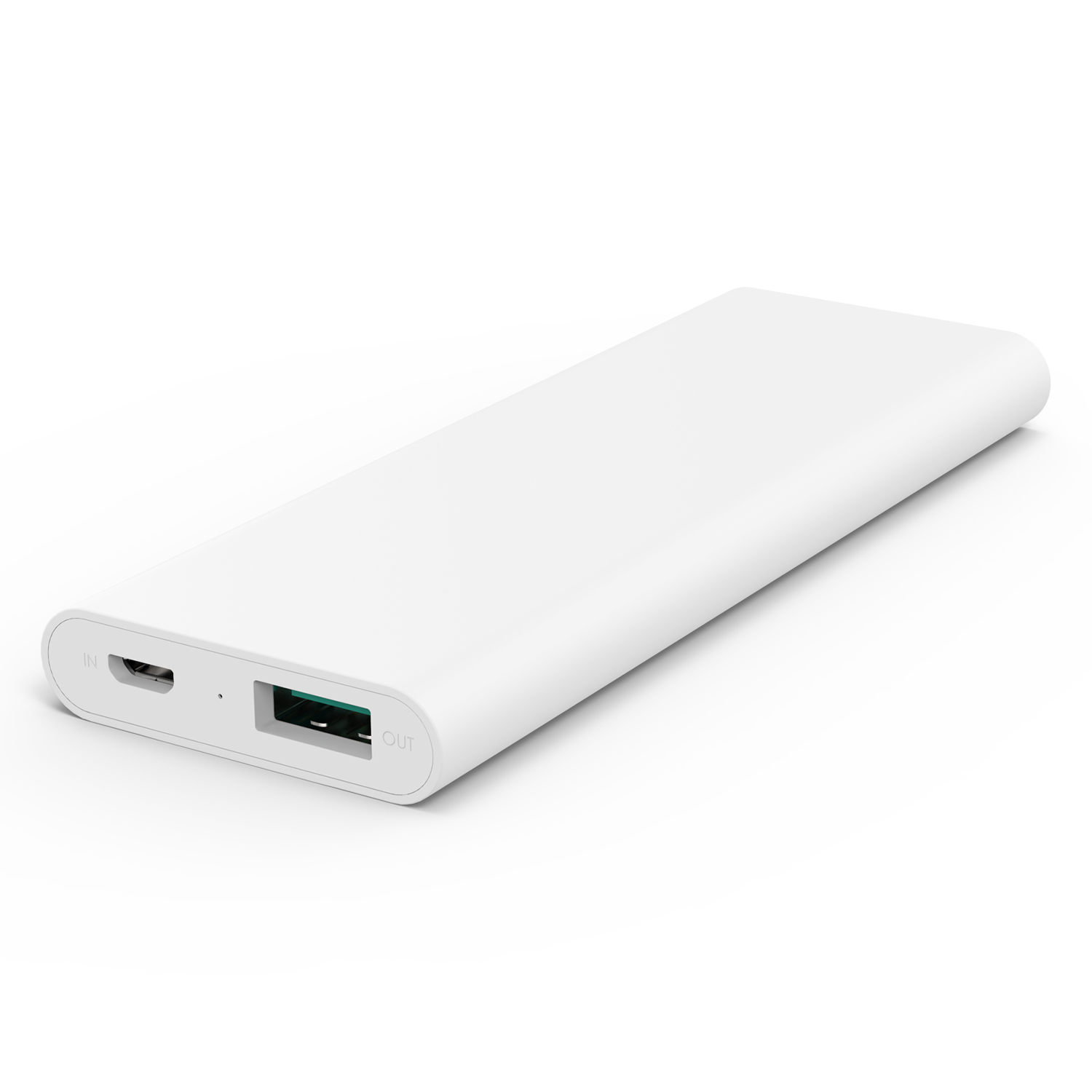 3600 mAh Slim Portable External Battery Pack White firefly PE-N26 1