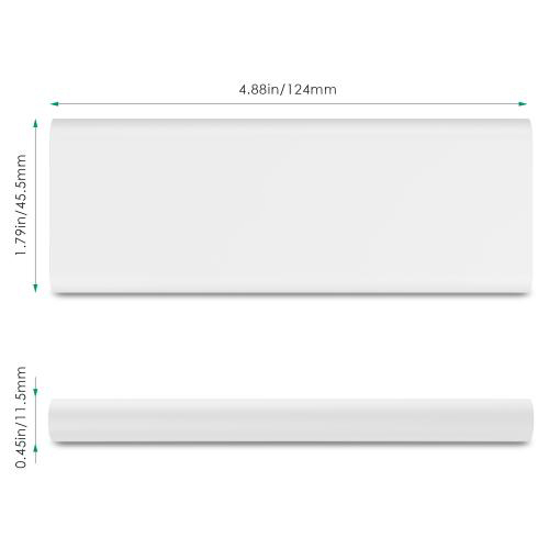 3600 mAh Slim Portable External Battery Pack White firefly PE-N26 2