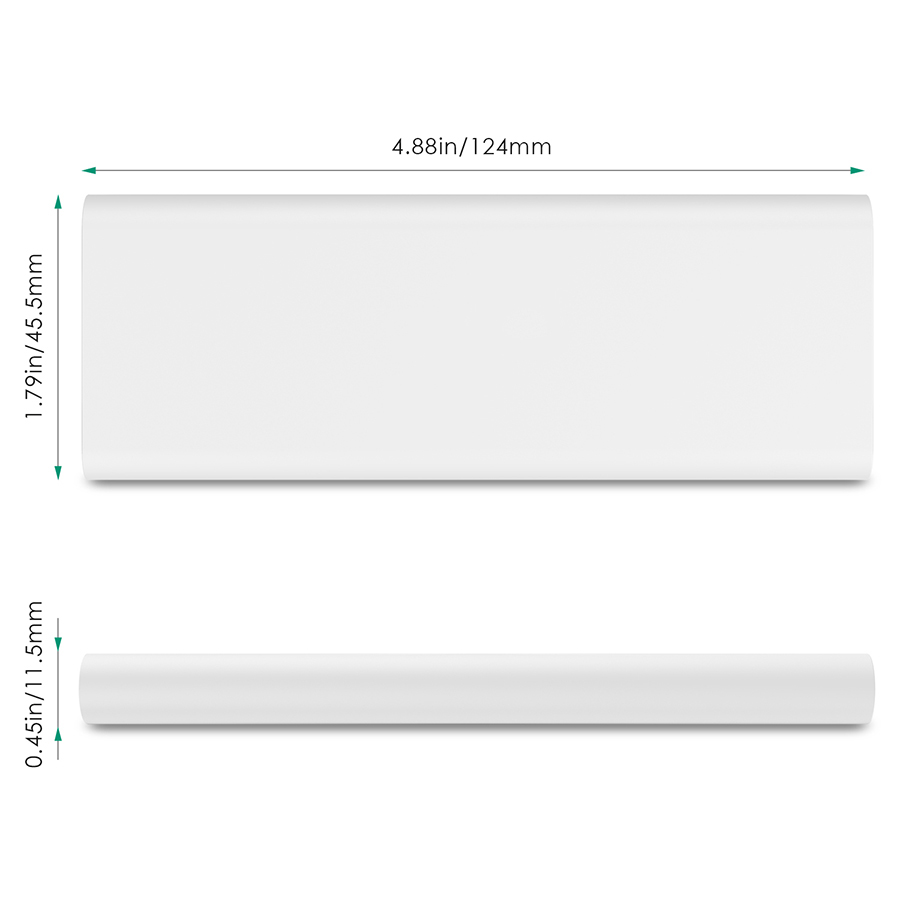 3600 mAh Slim Portable External Battery Pack White firefly PE-N26 4