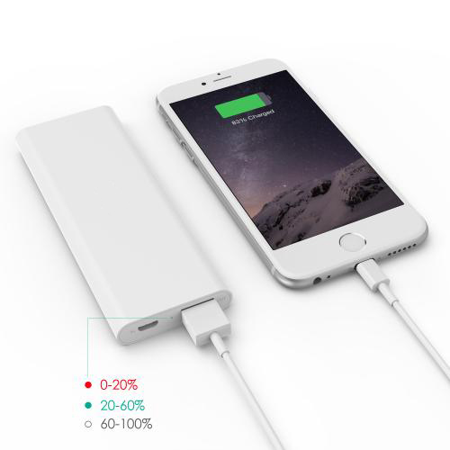 3600 mAh Slim Portable External Battery Pack White firefly PE-N26 6
