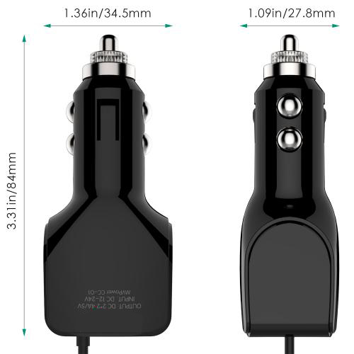 4.8A Dual USB Car Charger with micro-USB Cable Firefly CC-E2 - Black 6