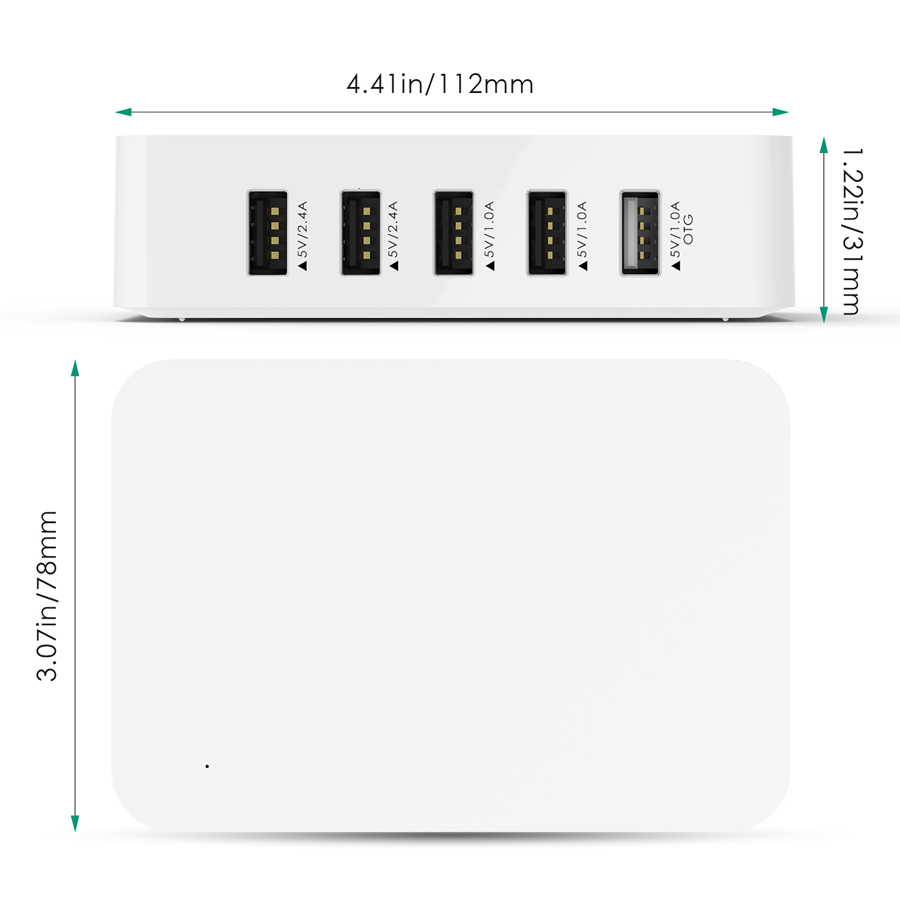 5-Ports USB Charging Station with OTG firefly 13