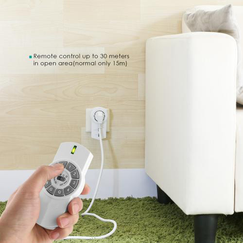 5x Programmable Wireless Remote Controlled Outlet Switch with 2 x Remote Controller firefly PA-W1 8
