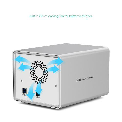Aluminum Dual Bay USB 3.0 to 3.5 inch SATA HDD Enclosure firefly DS-B5 8
