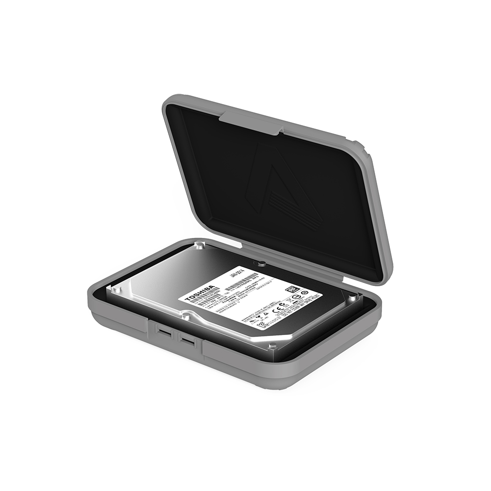 Premium 3.5 inch Hard Drive Protection Box HDD Storage Case Gray firefly DC-P1 2