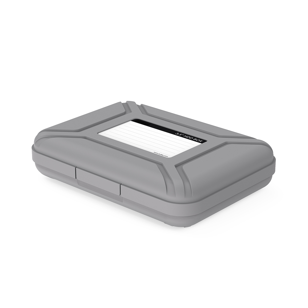 Premium 3.5 inch Hard Drive Protection Box HDD Storage Case Gray firefly DC-P1 3
