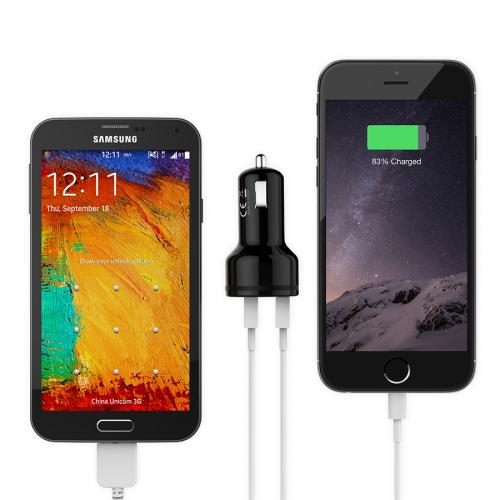 Qualcomm Quick Charge 2-Port USB Car Charger firefly CC-F1 9