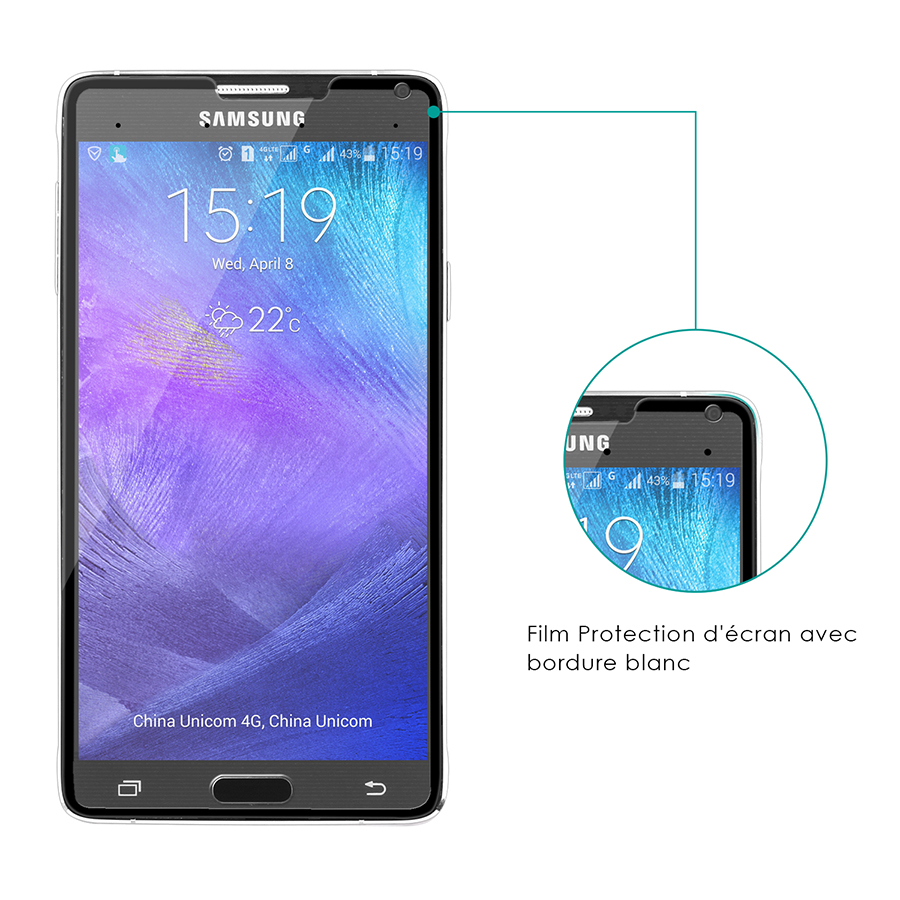 Smart Tempered-Glass Screen Protector for Samsung Note 4 Black Firefly SP-G21 4