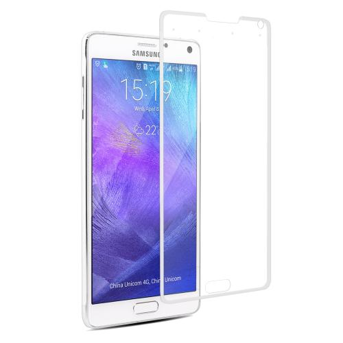 Smart Tempered-Glass Screen Protector for Samsung Note 4 White Firefly SP-G21