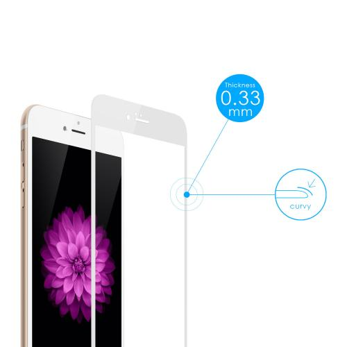 Tempered-Glass Screen Protector for iPhone 6 White Gold 4.7 inches firefly SP-G20 10