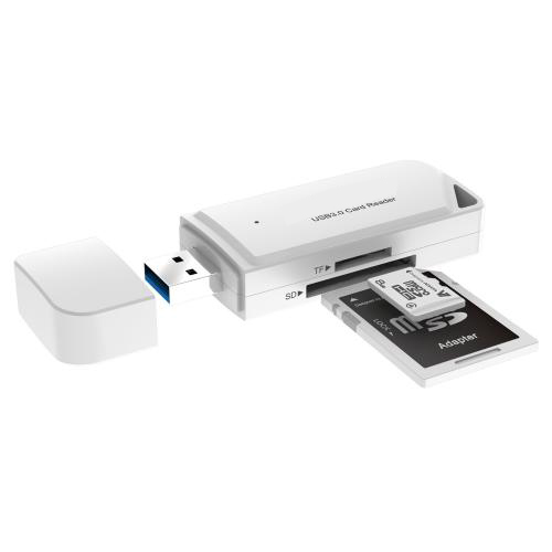 USB 3.0 TF SD Card Reader White Firefly 7
