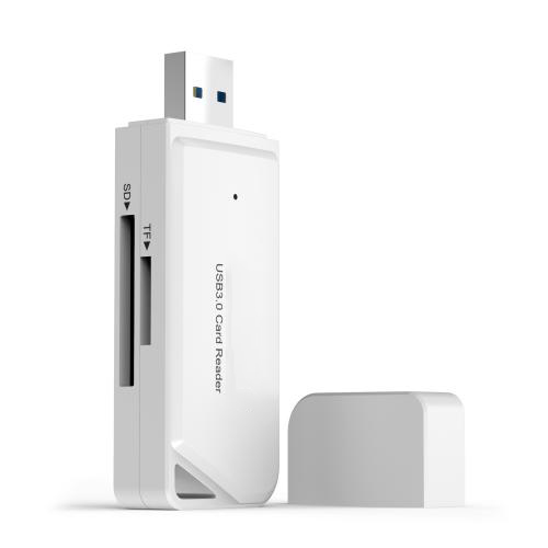 USB 3.0 TF SD Card Reader White Firefly
