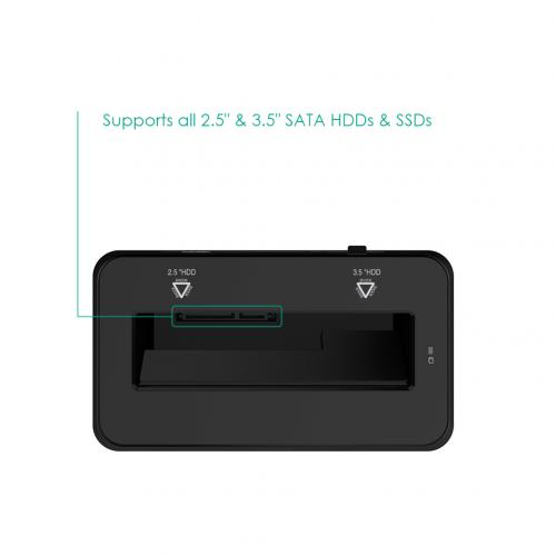 USB 3.0 to SATA Hard Drive Docking Station for 2.5 3.5 HDD SSD DS-B2 5