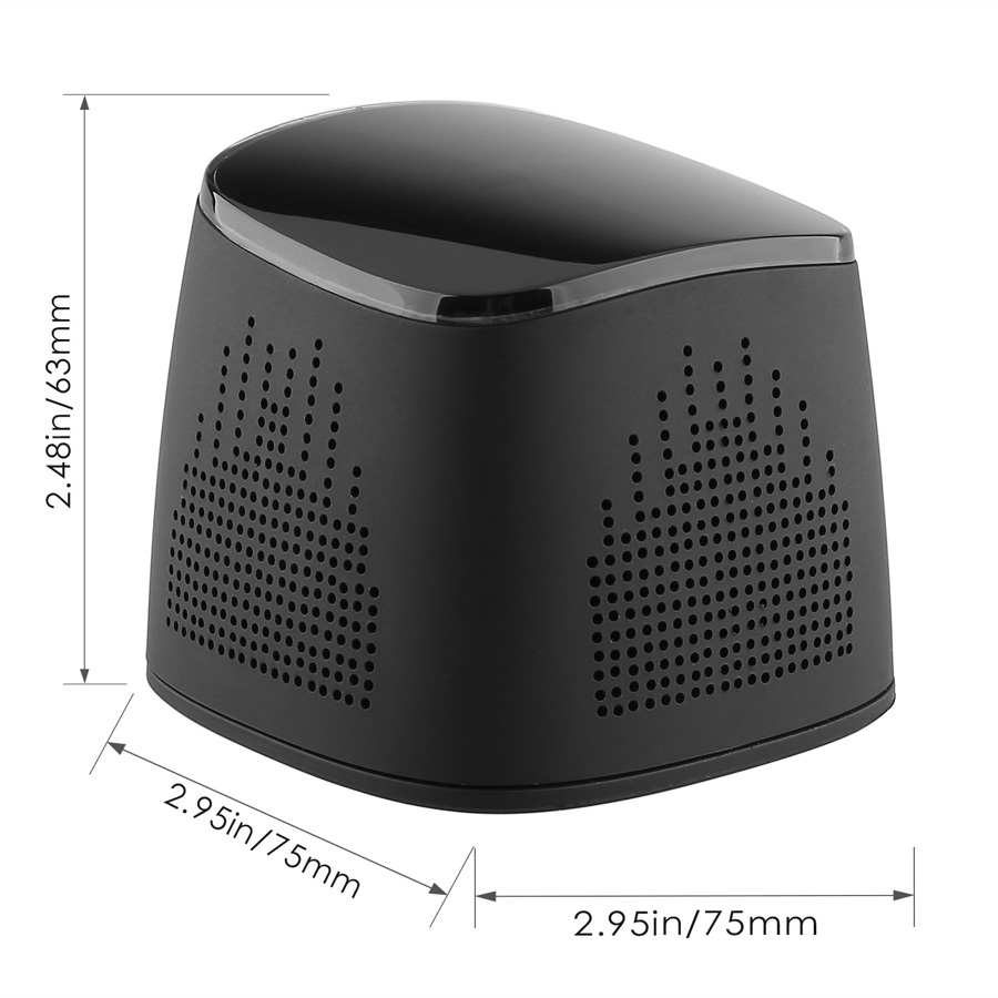 firefly BT020 Wireless Portable Bluetooth Speaker with 2000 mAh Power Bank Black 9