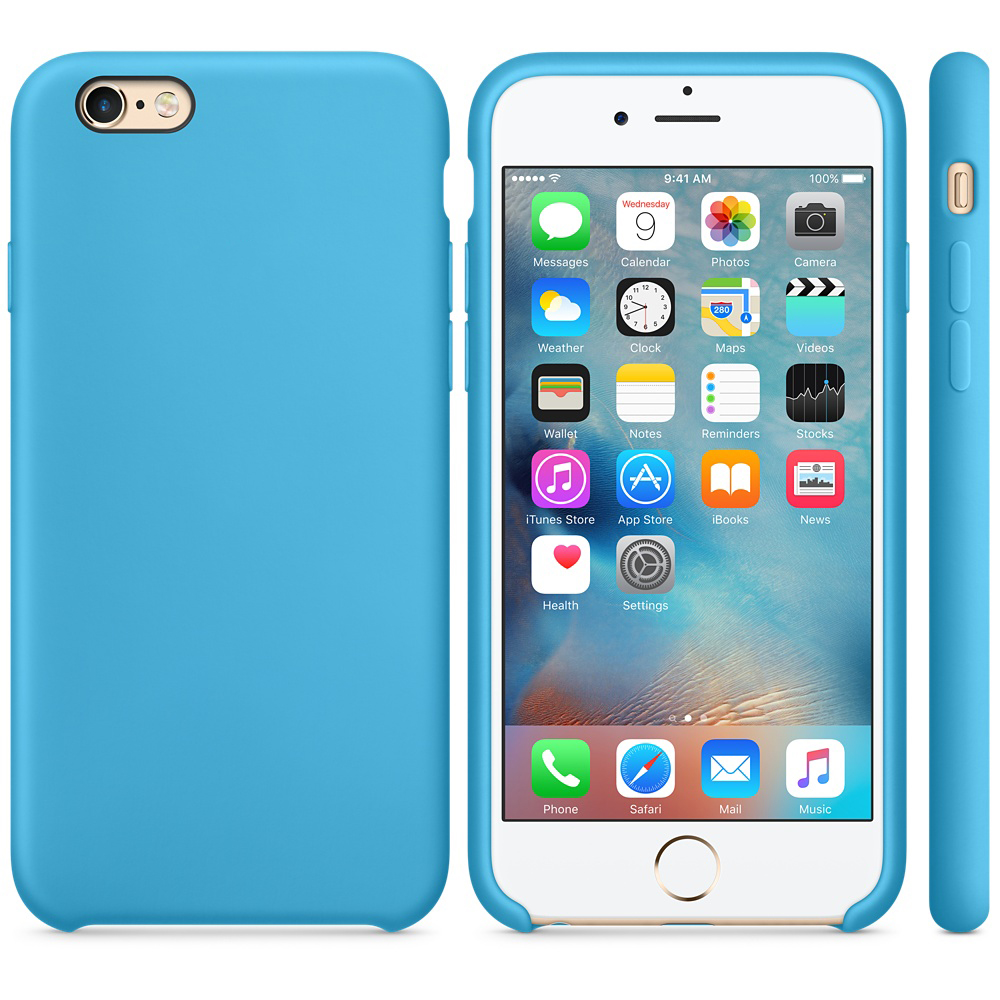 iphone 6s silicone case blue 2-2