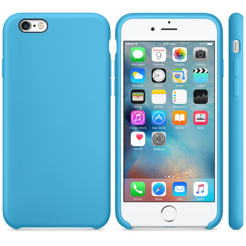 iphone 6s silicone case blue 4-4
