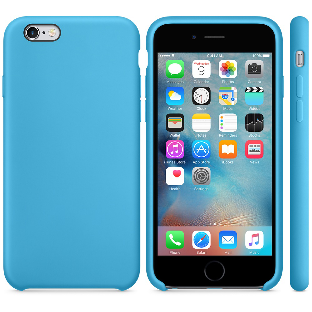 iphone 6s silicone case blue 5-5