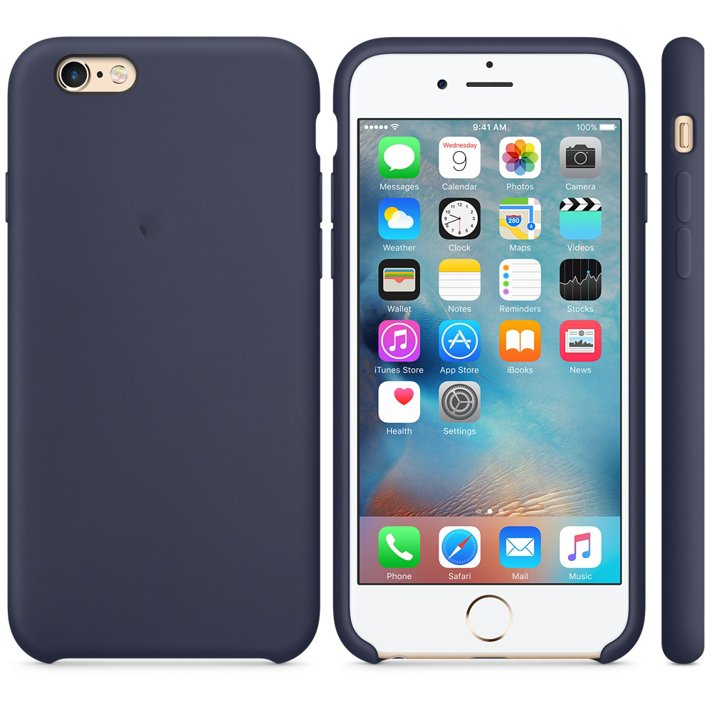 iphone 6s silicone case dark blue 2-1