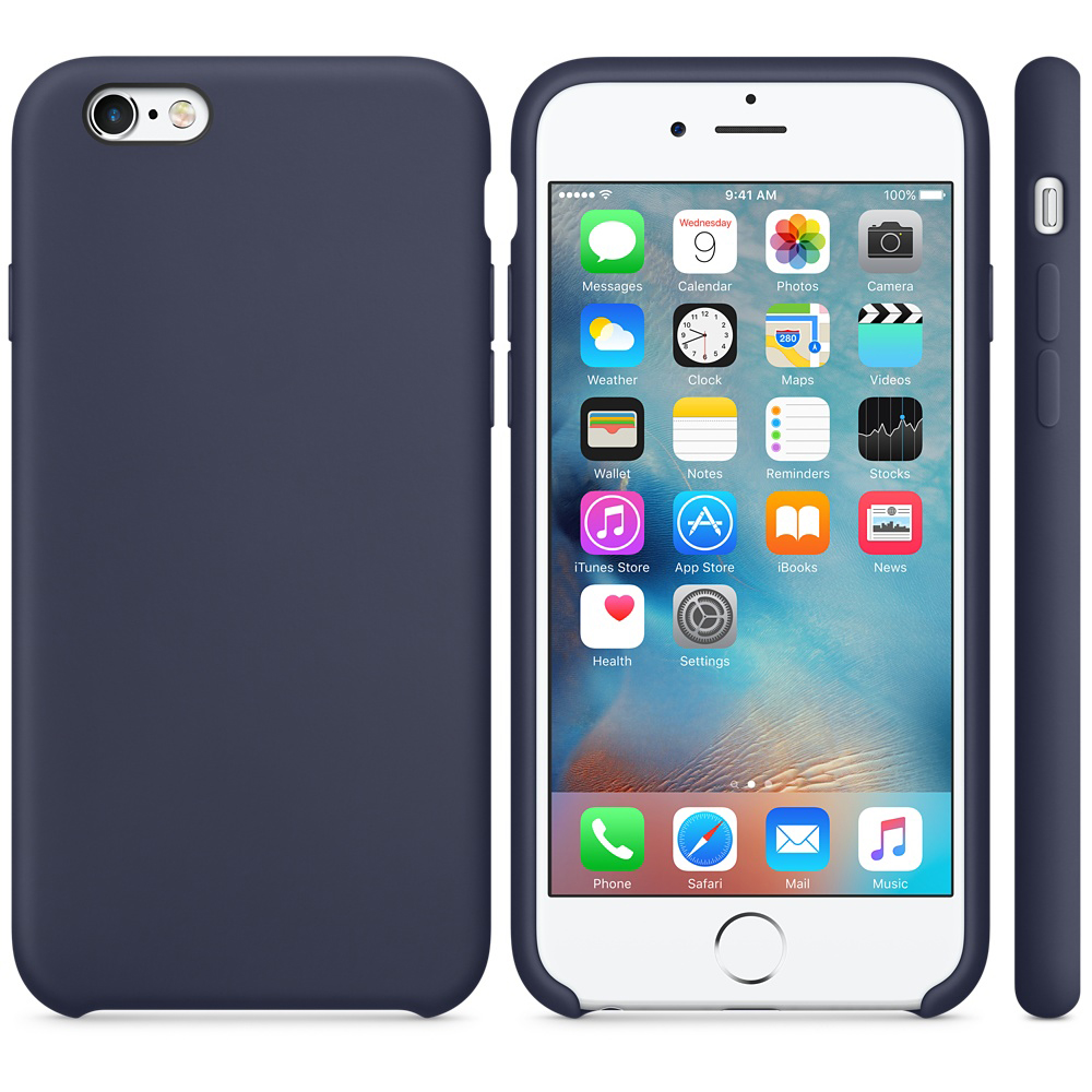 iphone 6s silicone case dark blue 4-1