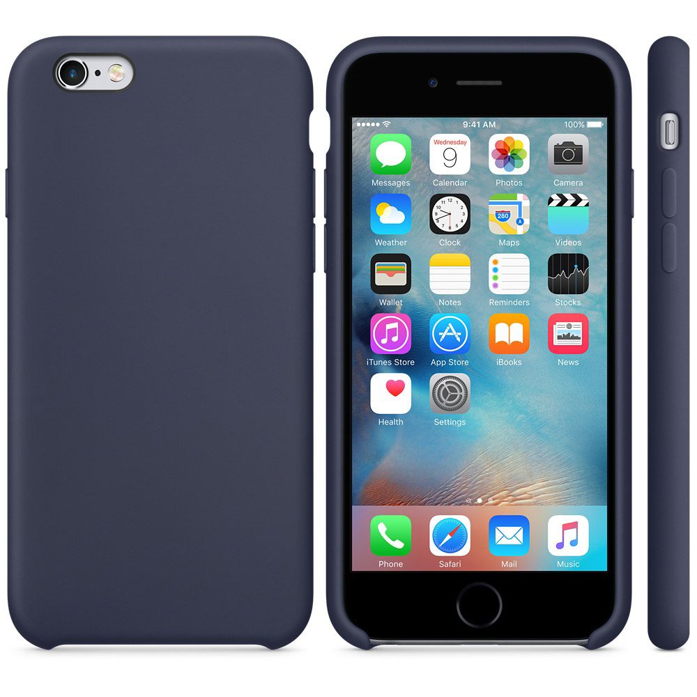 iphone 6s silicone case dark blue 5-1