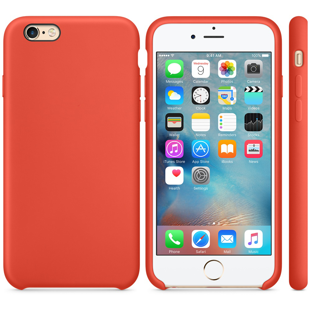 iphone 6s silicone case orange 21