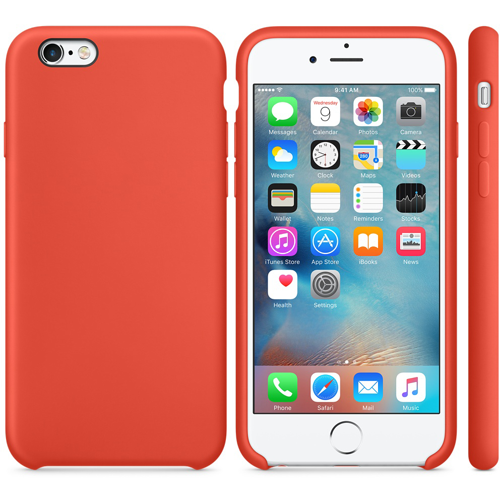iphone 6s silicone case orange 41