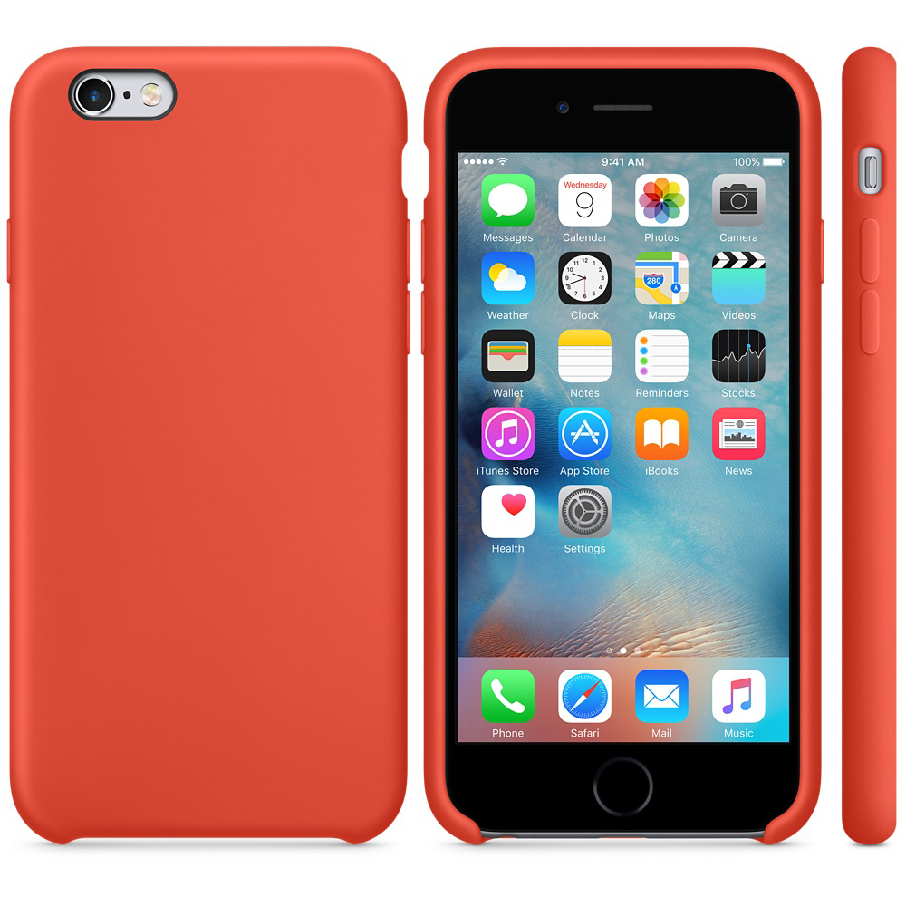 iphone 6s silicone case orange 51