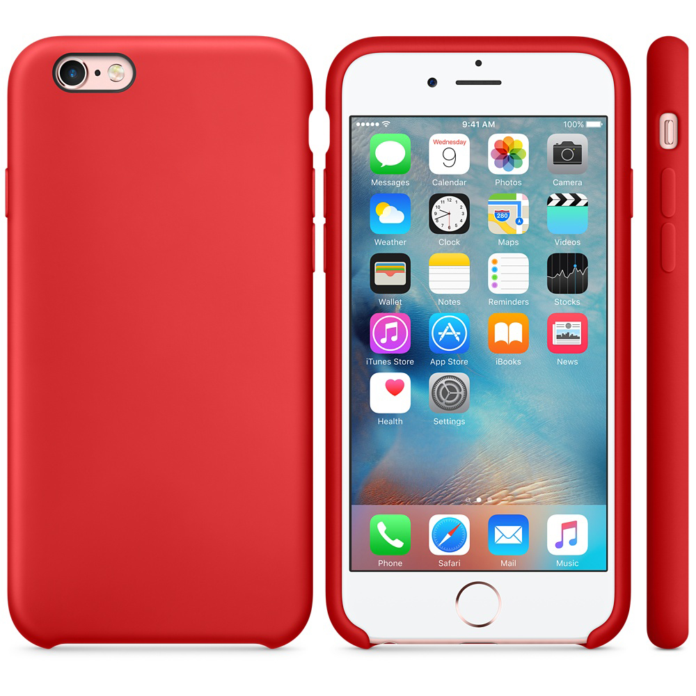 iphone 6s silicone case red 3