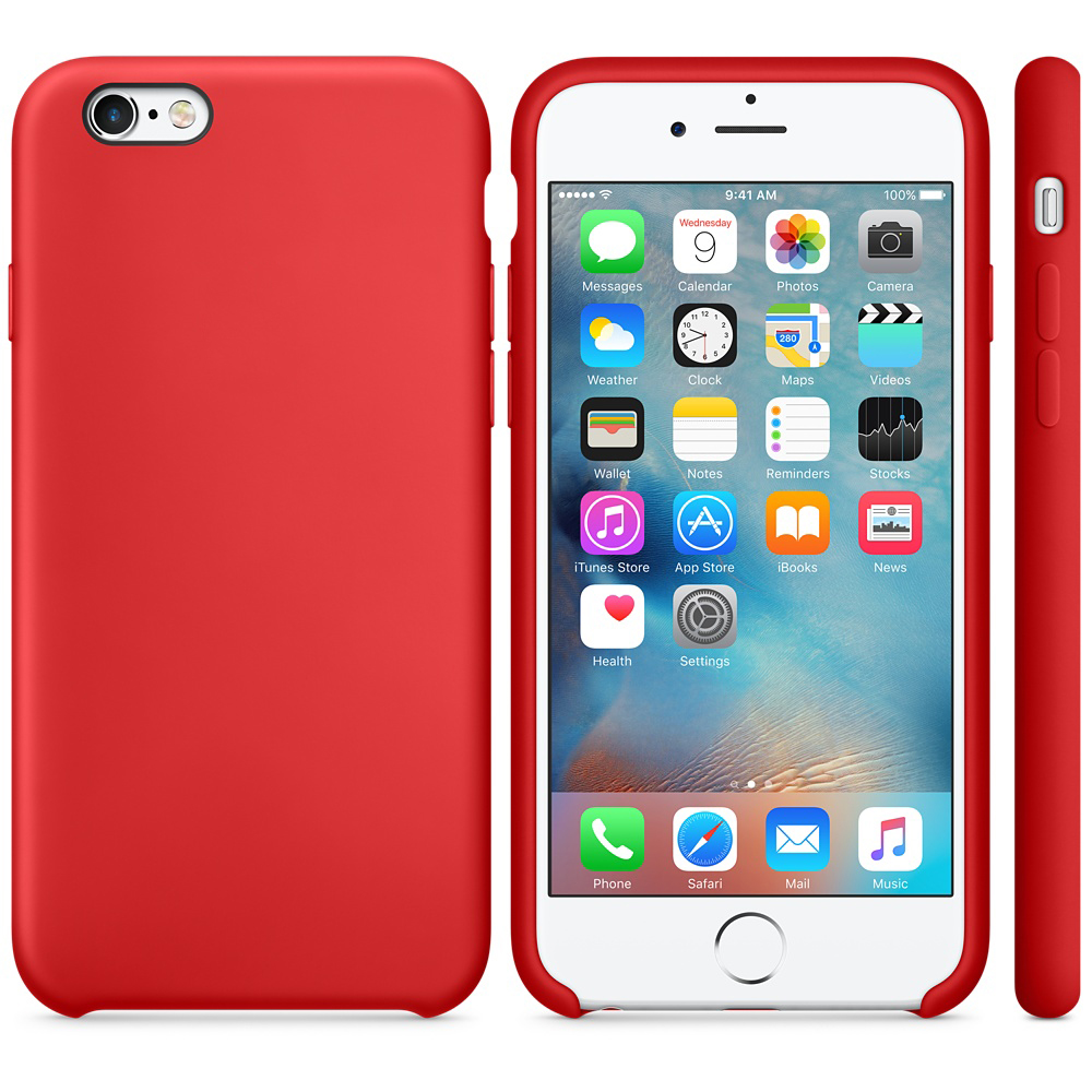 iphone 6s silicone case red 4