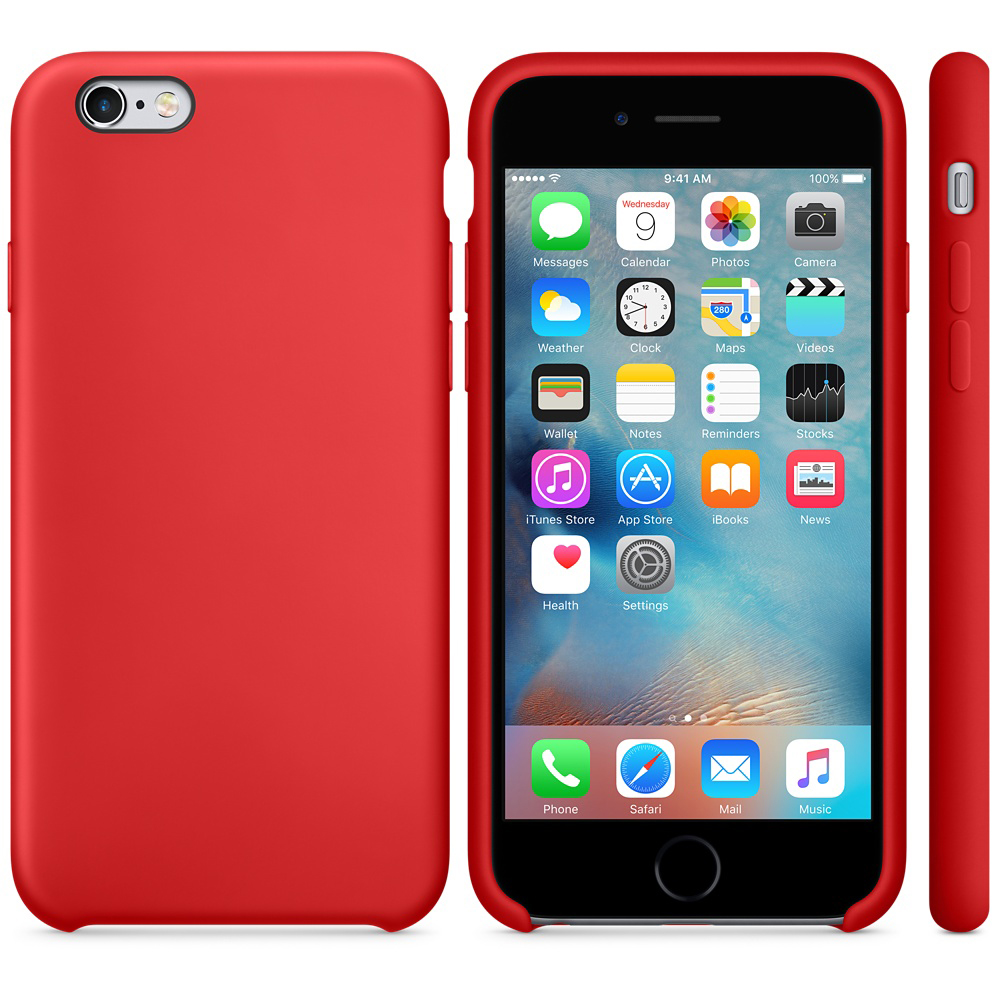 iphone 6s silicone case red 5