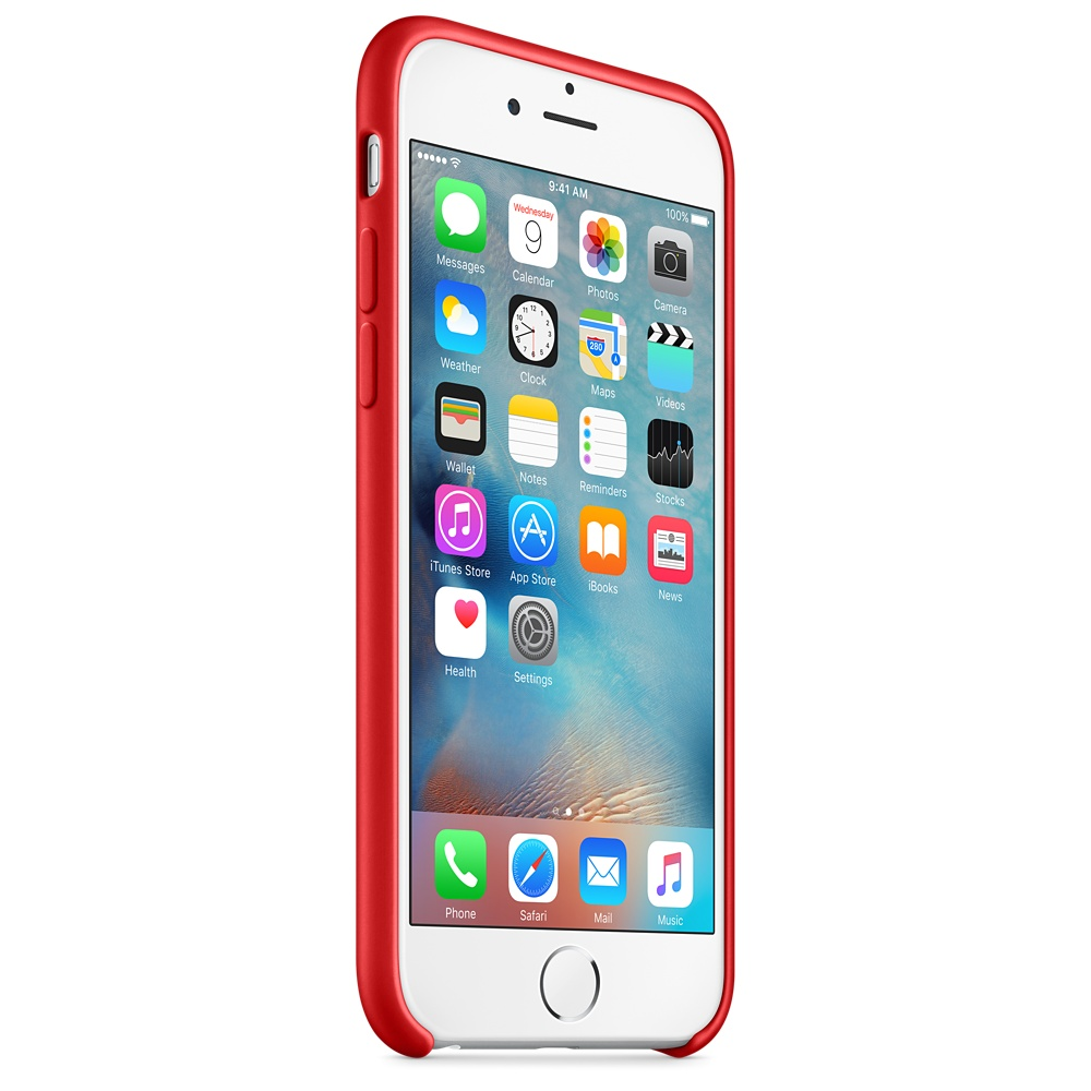 iphone 6s silicone case red 7