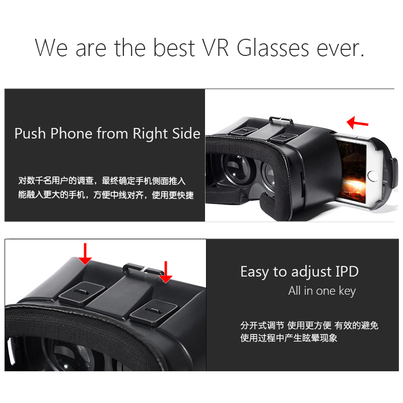 VR World Virtual Reality Glasses 3D VR Virtual Reality Headset For Smartphones China 9