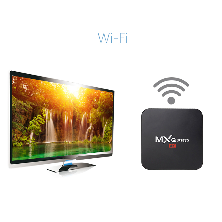 MXQ PRO 4K TV BOX Amlogic S905 Cortex A53 Quad-core 1GB 8GB WiFi HD HDMI Player 6