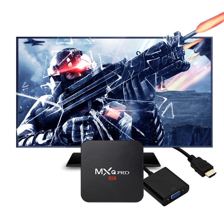 MXQ PRO 4K TV BOX Amlogic S905 Cortex A53 Quad-core 1GB 8GB WiFi HD HDMI Player